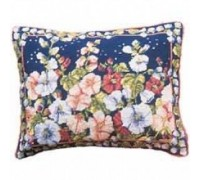 Hollyhocks Tapestry Cushion - Printed