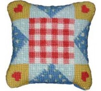 Patchwork Hearts Mini Tapestry - Printed
