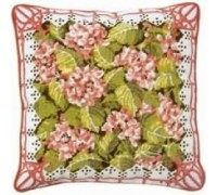 Pink Hydrangea Tapestry Cushion - Printed