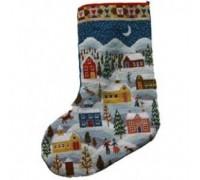 Shaker Christmas Tapestry Stocking - Printed