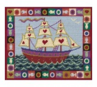 Ship of Hearts Tapestry - Printed