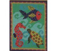 Felicitys Fish Tapestry - Printed