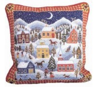 Shaker Winter Village Tapestry - Printed