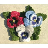 Pansy Posy In Stumpwork