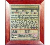 Fanny Hancock 1796 Sampler