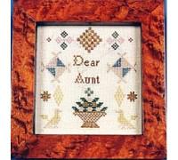 Dear Aunt Miniature Reproduction Sampler - Silk Floss Kit