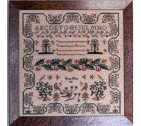 Emma Miles 1848 Sampler
