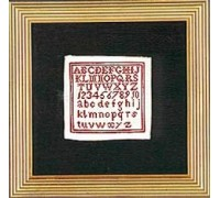 English Miniature Sampler circa 1800 - Silk Floss Kit