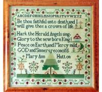 Mary Ann Hutton Christmas 1801 Sampler