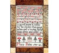 Mary Baker 1789 Sampler