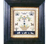 Miniature Sampler With Cutwork circa 1800 - Silk Floss Kit