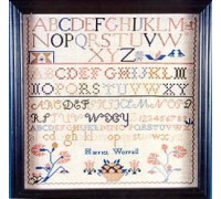 Harriet Worrall Sampler circa 1810
