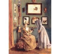 A Femme a la Poupee Japonaise by Alfred Stevens