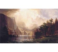 Among the Sierra Nevada Mountains, California by Bierstadt