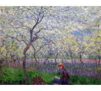 An Orchard in Spring by Monet
