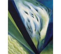 Blue and Green Music by Georgia O'Keeffe