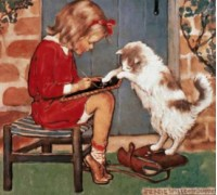 C is for Cat by Jessie Willcox Smith