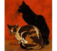 Cats by Theophile-Alexandre Steinlen