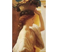 Eucharis, A Girl With A Basket of Fruit by Leighton