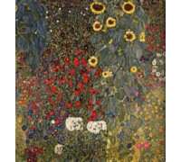 Farm Garden With Sunflowers by Klimt