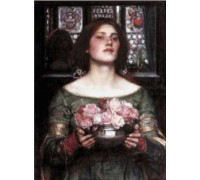 Gather Ye Rosebuds While Ye May by Waterhouse