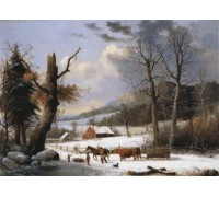 Gathering Wood For Winter by George Henty Durrie