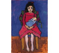 Girl With Doll by Gabriele Munter