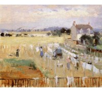 Hanging the Laundry Out to Dry by Morisot