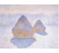 Haystacks - Effect of Snow and Sun by Monet