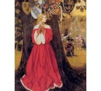 Lancelot Slays the Caitiff Knight Sir Tarquin by Cowper
