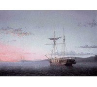Lumber Schooners at Evening on Penobscot Bay by Fitz Hugh Lane