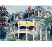 Mansard Roof by Edward Hopper