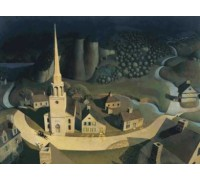 Midnight Ride of Paul Revere by Grant Wood