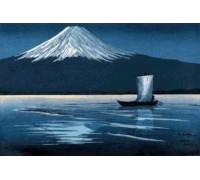 Moonlight on Mount Fiji byLilian May Miller