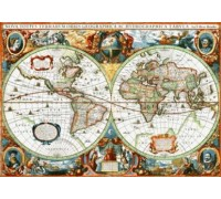 Nova Totius Terrarum Orbis Geographica Ac Hydrographica Tabula by Hondius