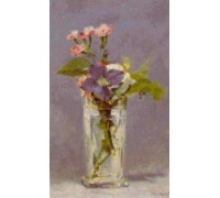 Oeillets et Clematites dans un Vase de Cristal by Edouard Manet