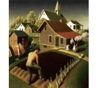 Spring In Town by Grant Wood