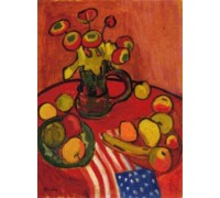 Still Life in Red by Gabriele Munter