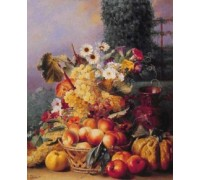 Still Life of Flowers and Fruits II by Chevalier