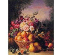 Still Life of Flowers and Fruits I by Chevalier