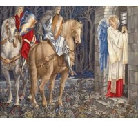 The Failure of Sir Gawaine: Sir Gawaine and Sir Uwaine at the Ruined Chapel - Edward Burne-Jones