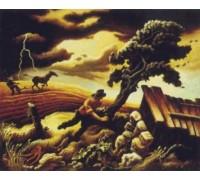 The Hailstorm by Thomas Hart Benton