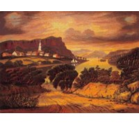 The Hudson Valley, Sunset by Thomas Chambers