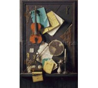 The Old Cupboard Door by William Michael Harnett