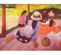 The Siesta by Paul Gauguin