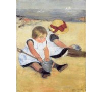 Two Children at the Seashore by Mary Cassatt