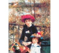 Two Sisters on the Terrace by Renoir