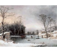 Winter in the Country, Getting Ice by George Henry Durrie