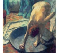 Woman Bathing in a Shallow Tub by Edgar Degas