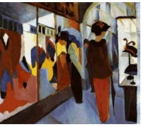 Fashion Shop by Auguste Macke